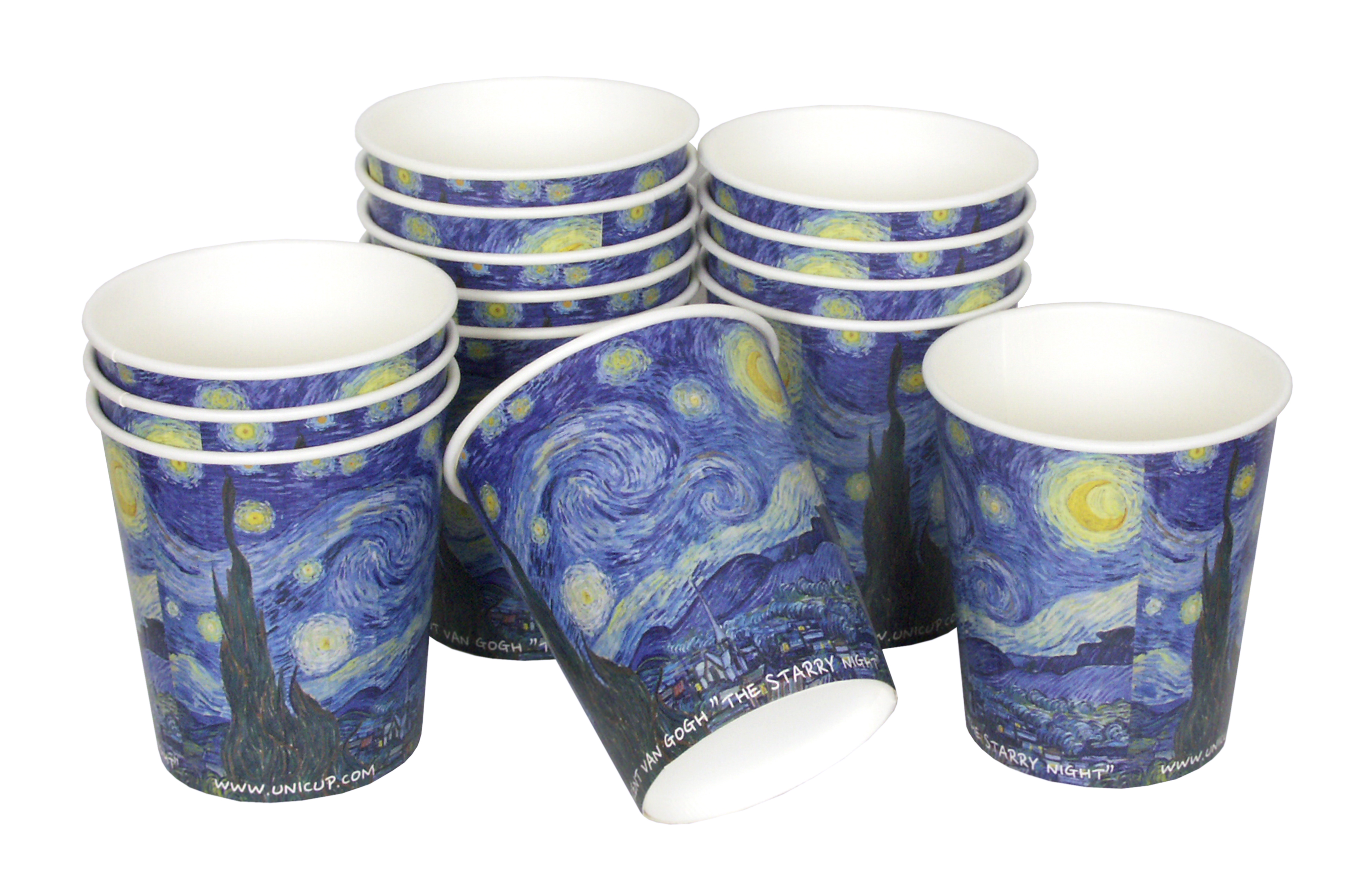 Paper cups with standard print