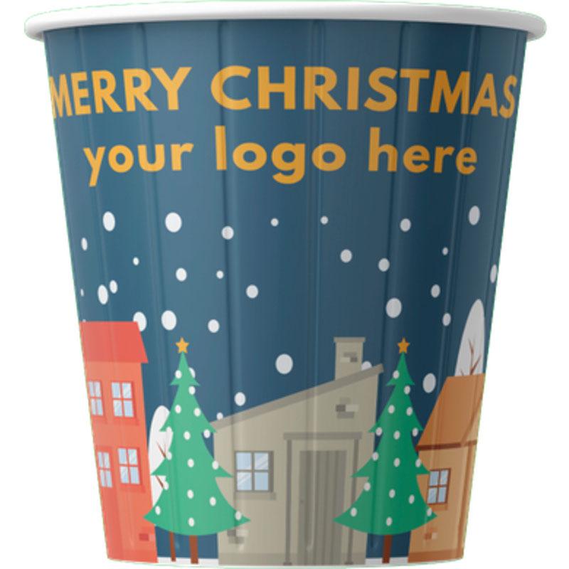 Paper cup Chrismas design