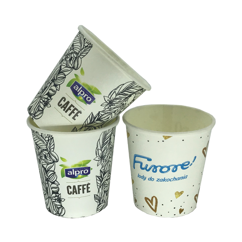 Custom printed single wall paper cups